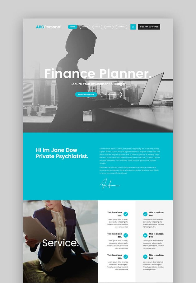 ABC Personal WordPress theme for consultant