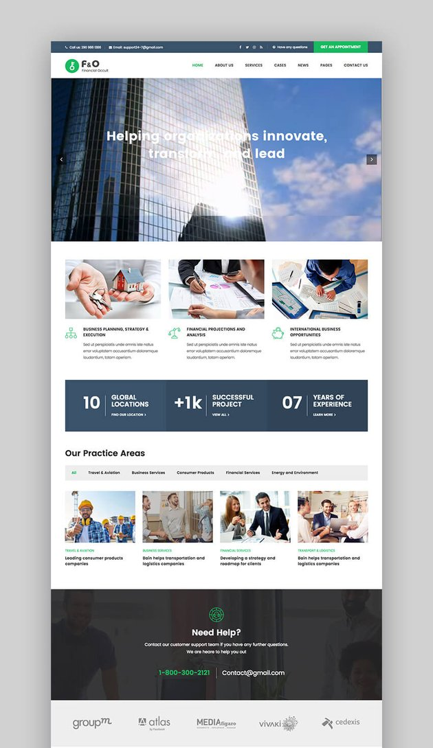 FO finance consulting WordPress theme
