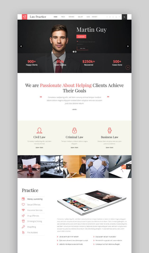 Law Practice legal theme for WordPress