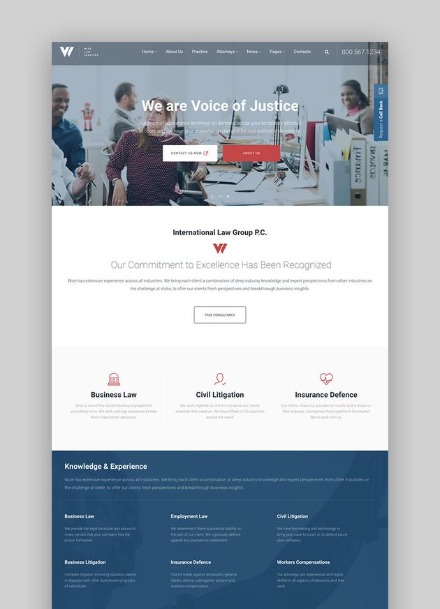 Law Services legal WordPress theme