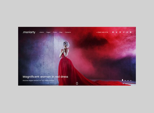 Moriarty Intuitive Full-Screen Theme for WordPress