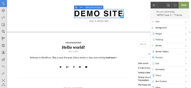 Customizing elements in WordPress blog theme