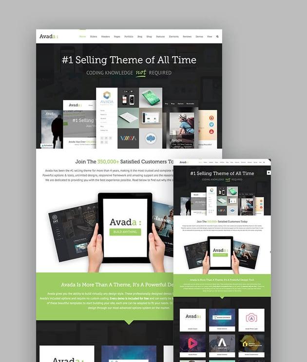 Avada Multipurpose WordPress Theme with Responsive Design