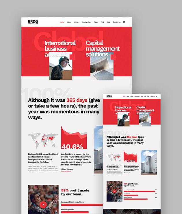 Bridge responsive theme for latest WordPress websites