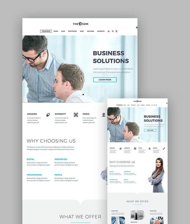 TheGem high-performance theme for responsive WordPress websites