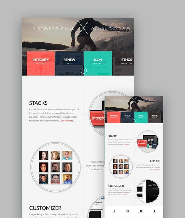X The Theme responsive theme for WordPress sites