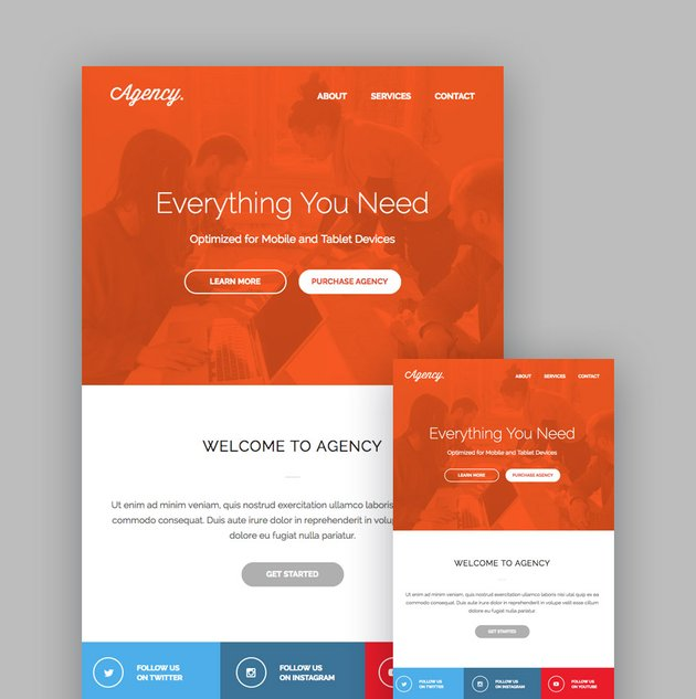 Agency MailChimp template