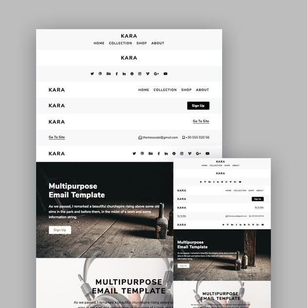 Kara creative template