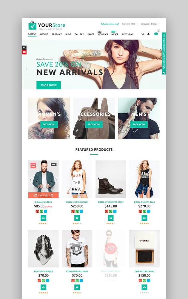 YourStore Multipurpose theme