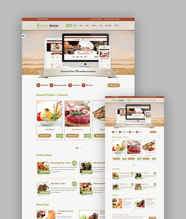 Bella Motel Bakery and Restaurant Template