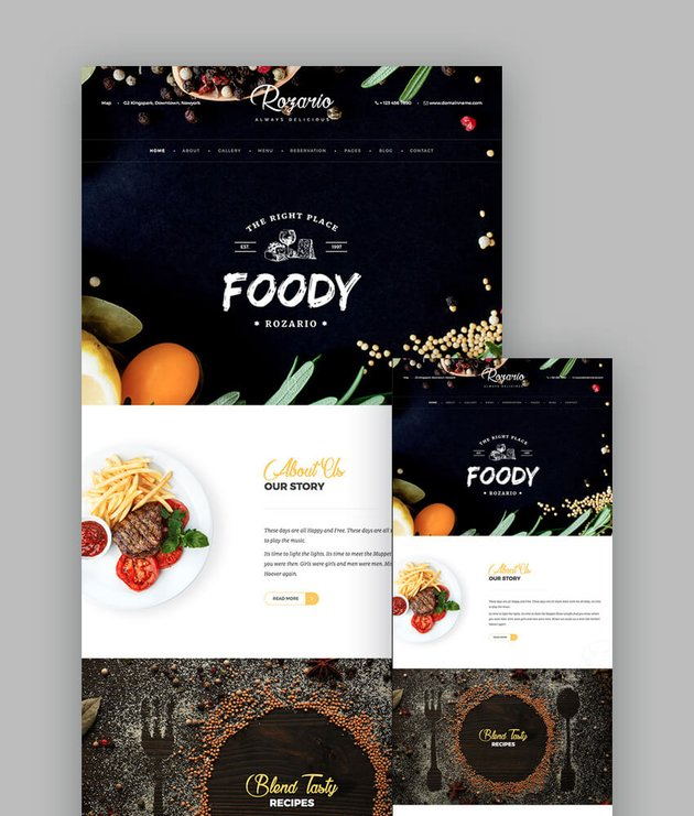 Rozario Restaurant and Food Template