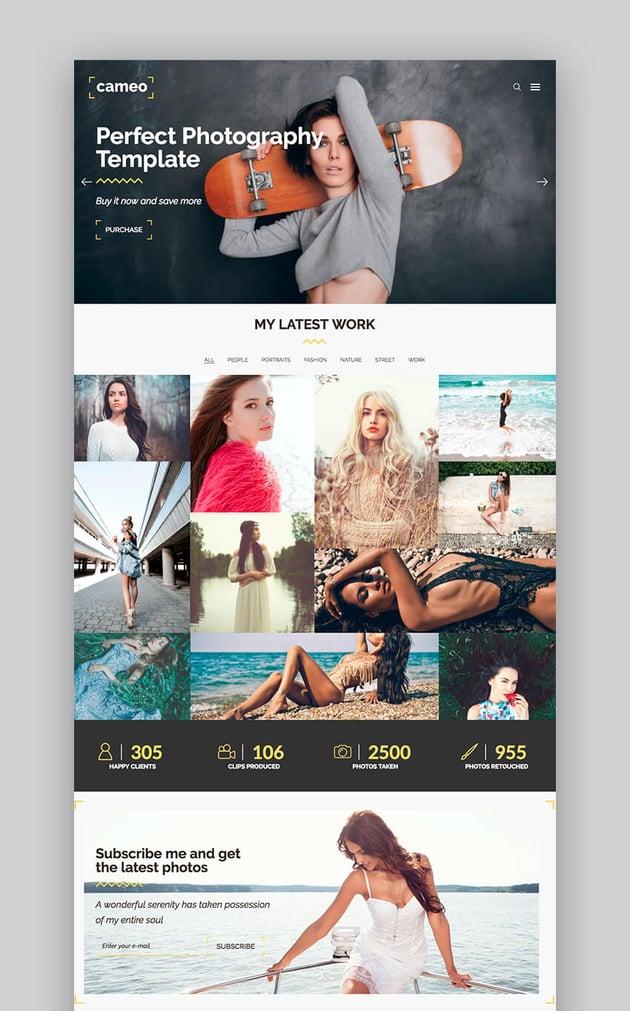 Cameo Photography WordPress Theme
