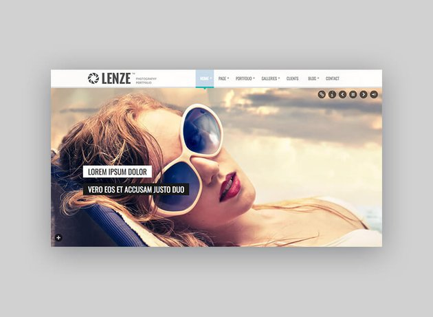 Lenze Photography Theme