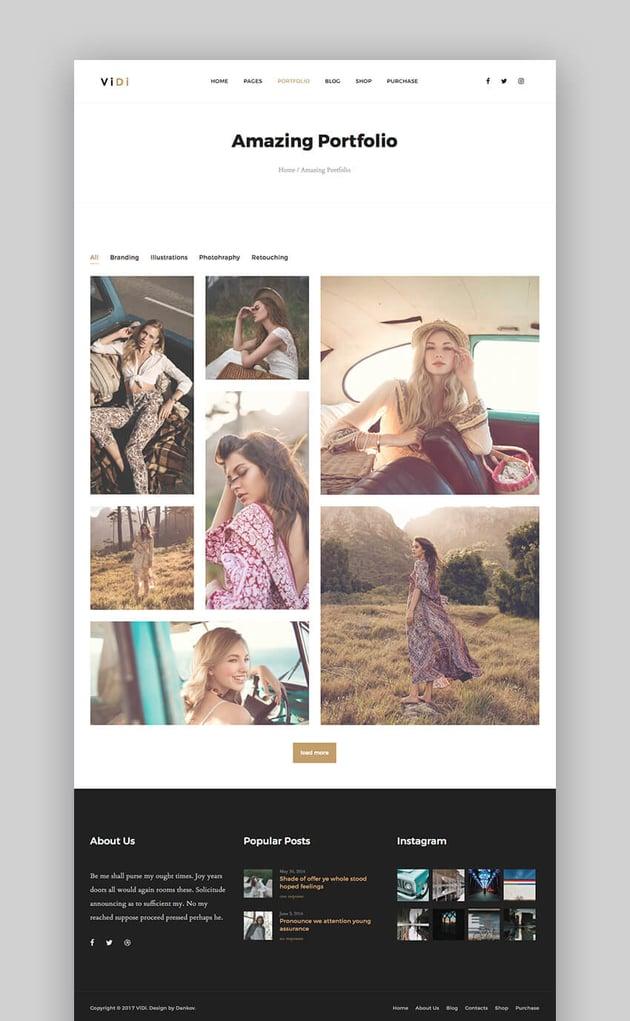 ViDi WordPress Theme for Photographers