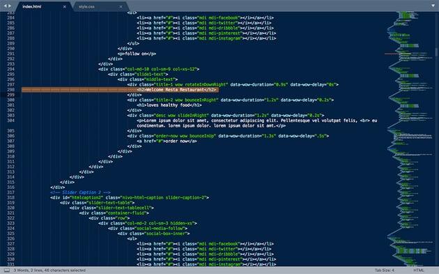 Editing HTML