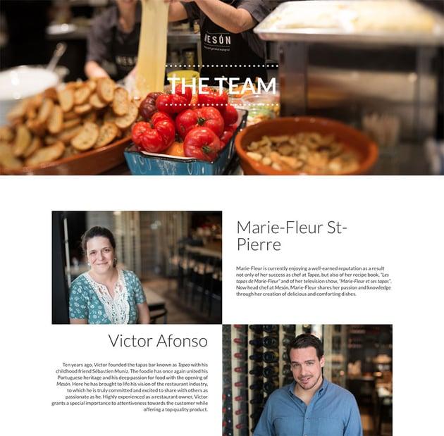 Restaurant Meson website