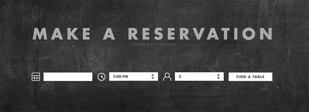 TOCA restaurant website