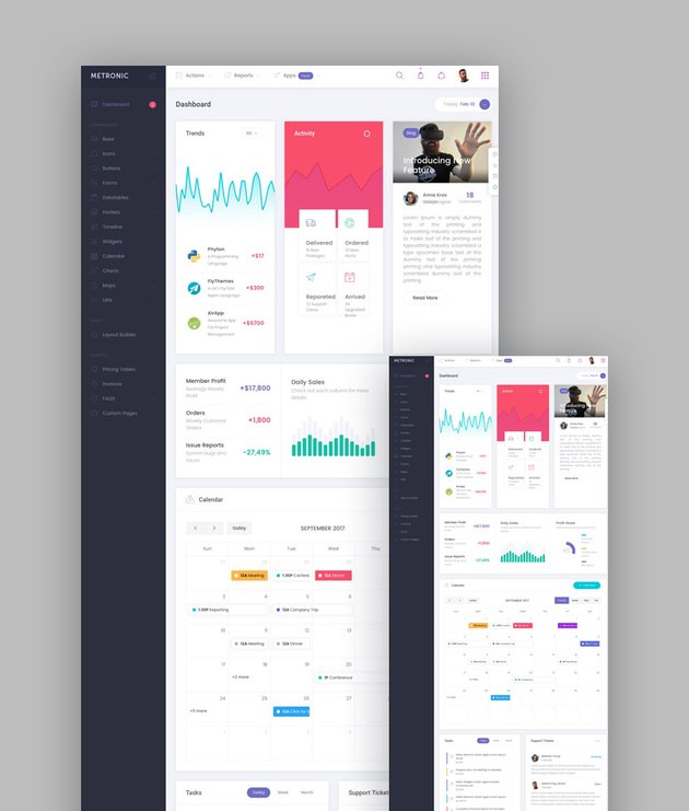Metronic responsive template