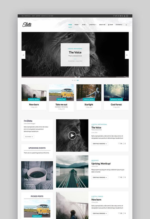 Elletta video WordPress theme