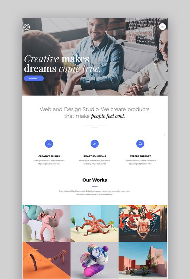 Optima WordPress theme