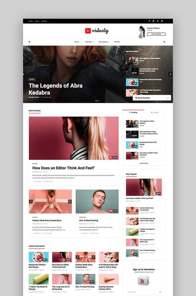Videoly video WordPress theme