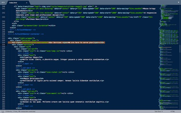 HTML file open
