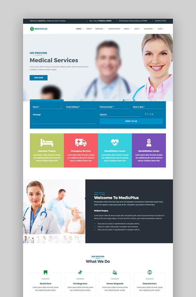 MedicPlus WordPress theme