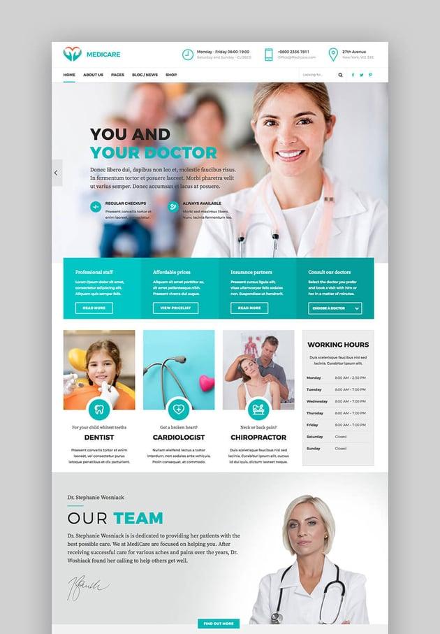 Medicare WordPress-Theme