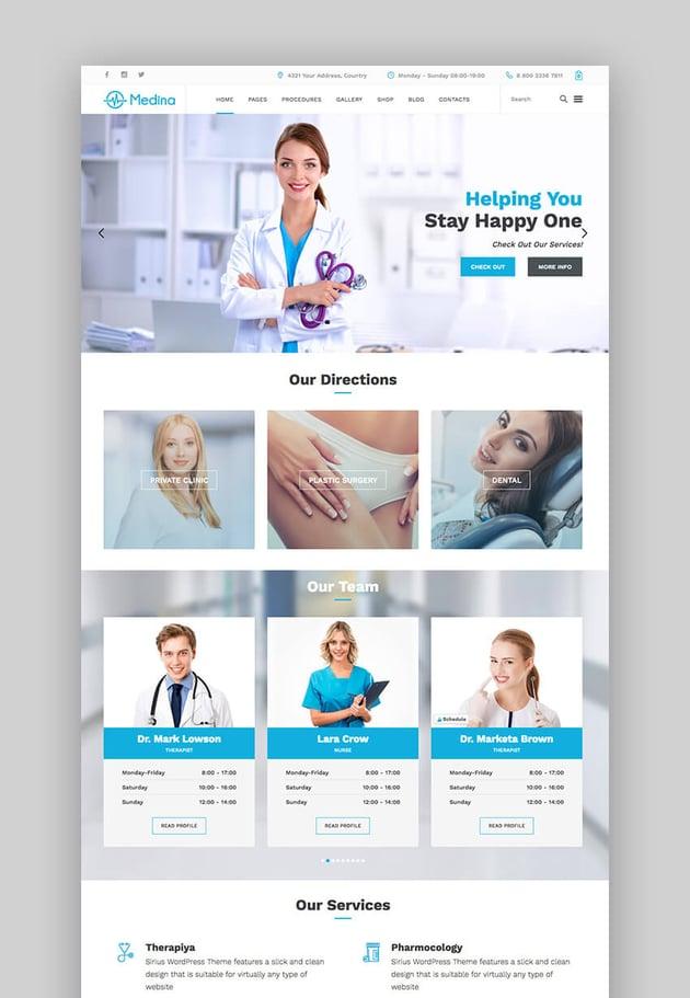 Medina Arzt WordPress-Theme
