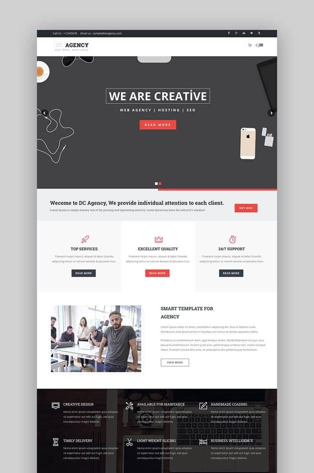 DC Agency SEO WordPress theme