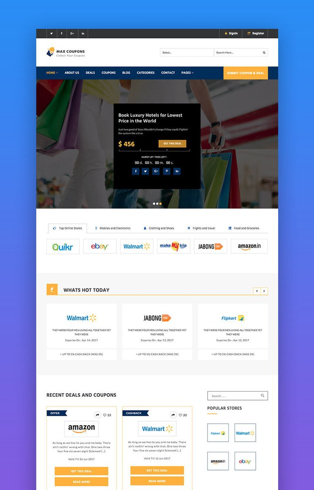 Max Coupons SEO and commerce WordPress theme