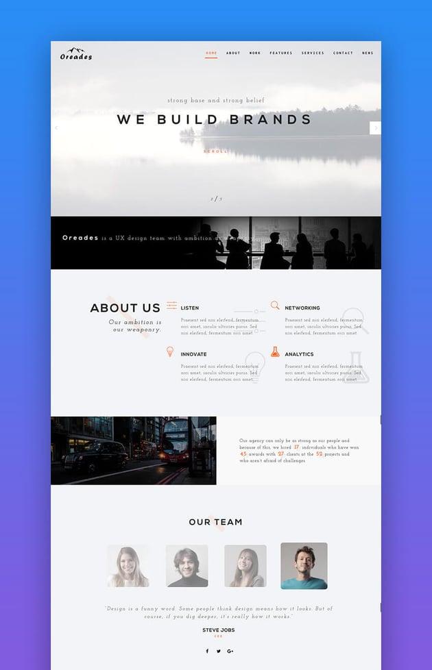 Oreades SEO WordPress theme