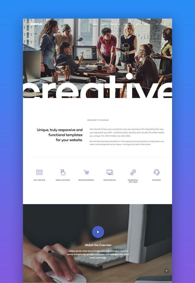 Avenue creative WordPress theme