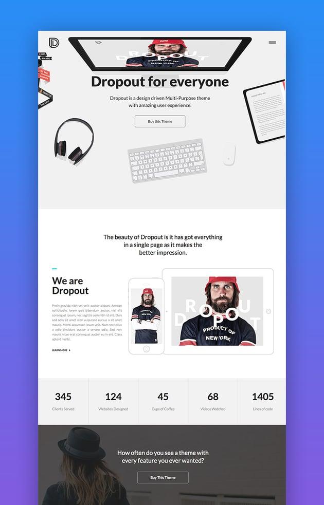 Dropout creative theme