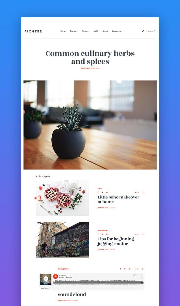 Richter creative WordPress theme