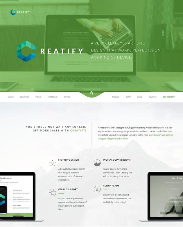 Creatify WordPress theme