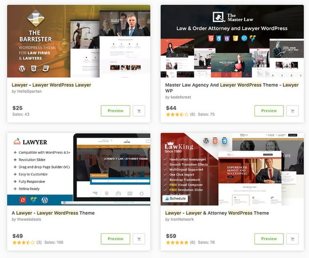 WordPress lawyer themes