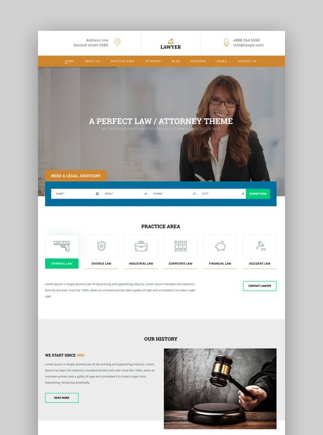 A Lawyer website template