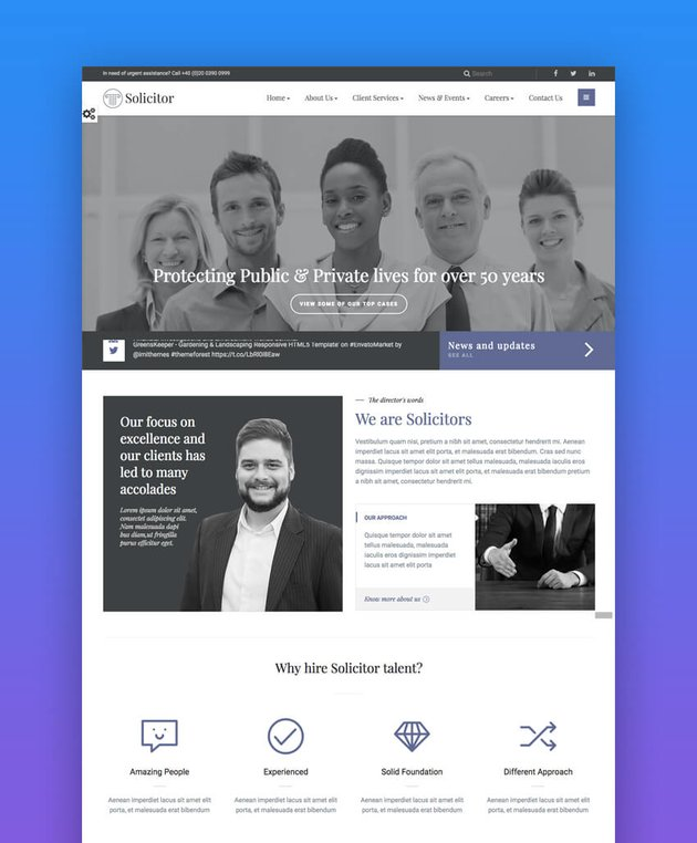 Solicitor professional law firm website template