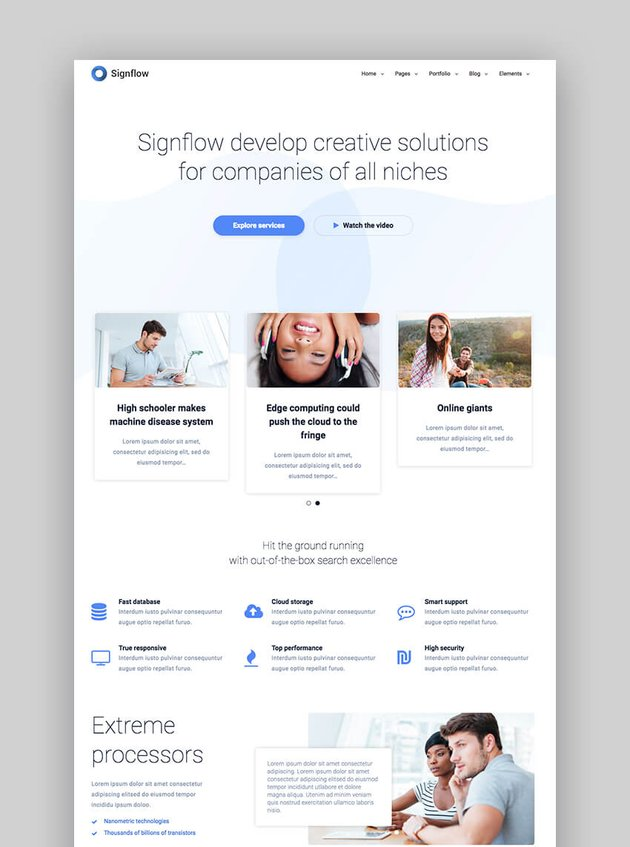 Signflow tech and startup Drupal theme