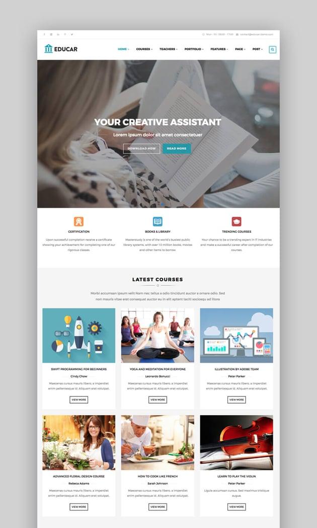 Educar Drupal theme for education website