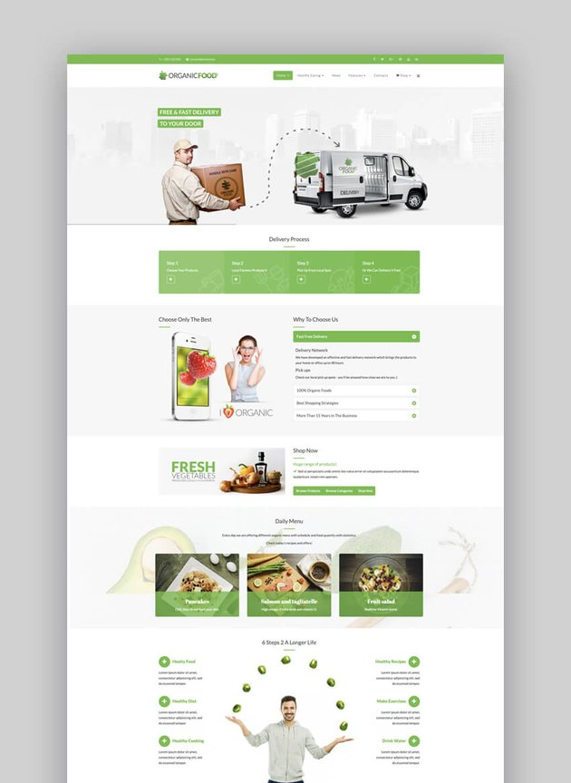 Organic Food Joomla template