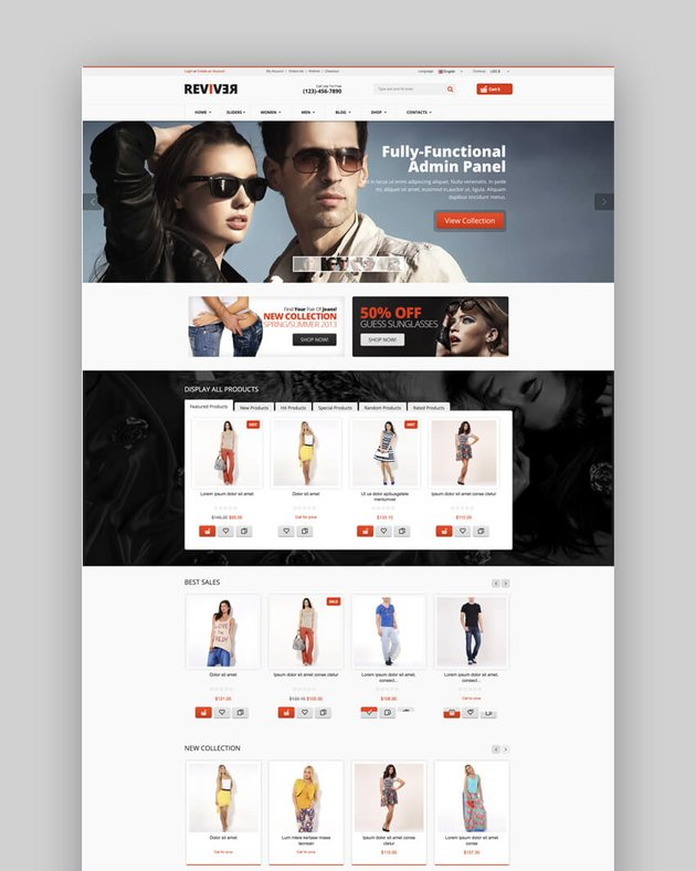 Reviver e-commerce Joomla template