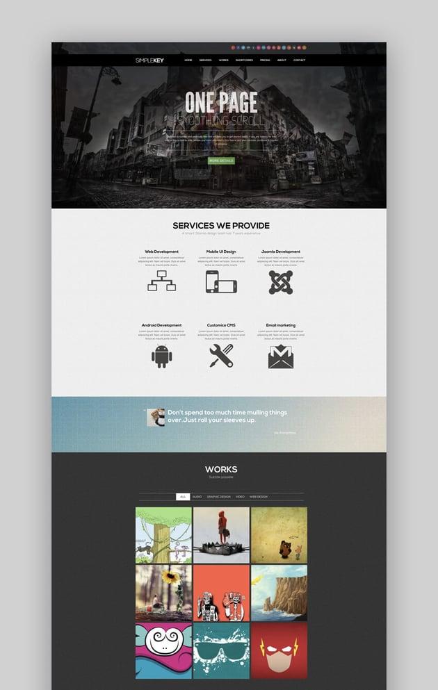 SimpleKey portfolio Joomla theme