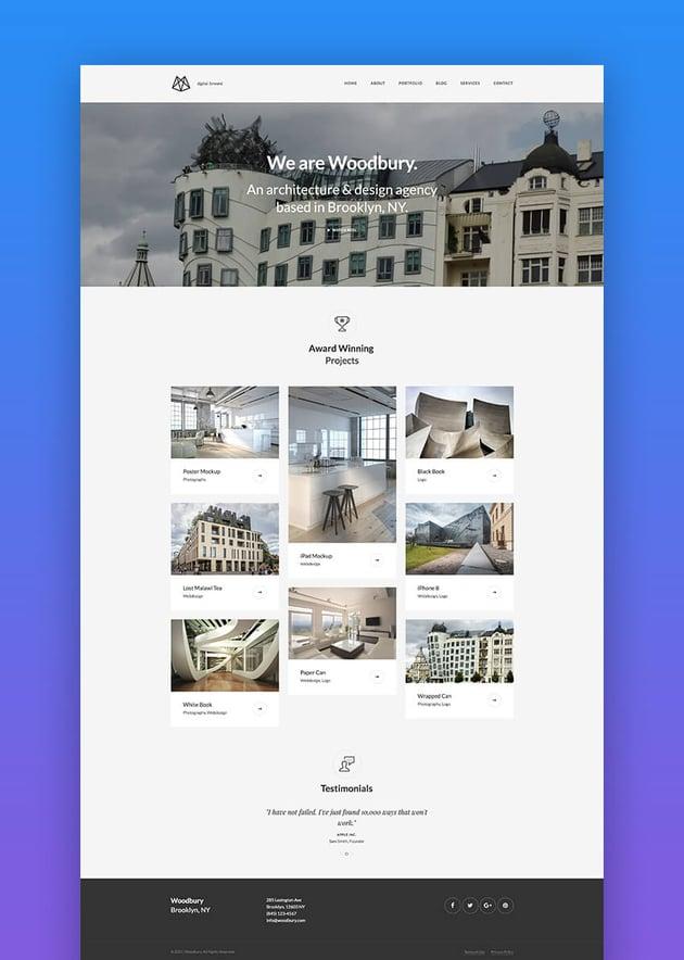 Woodbury Architects Joomla responsive template