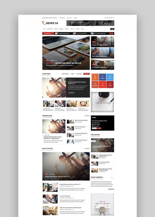 News 24 Joomla news blog template