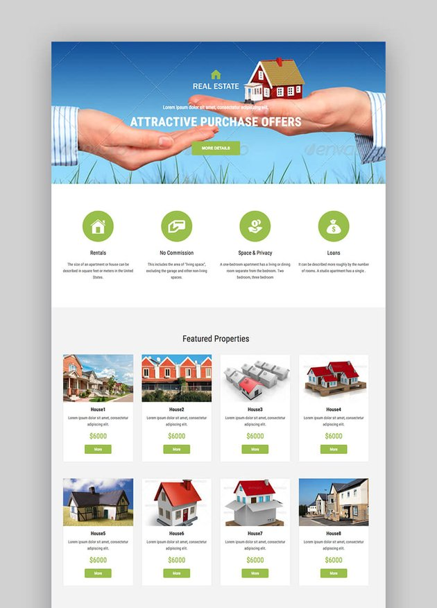 Your MultiTemplate real estate landing page template