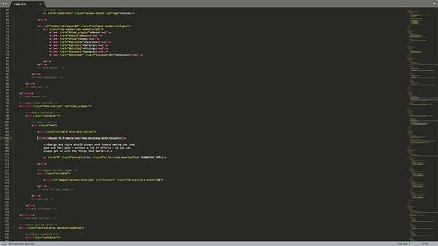 Editing HTML template