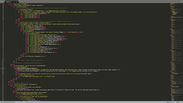 editing the HTML template