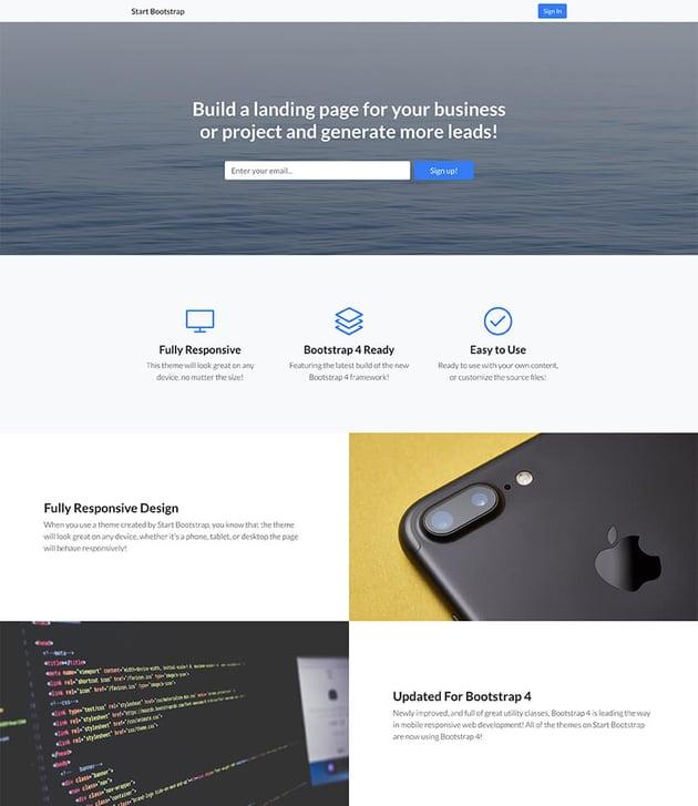 Landing Page Splash Page Design Template